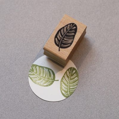 Calathea Leaf rubber Stamp
