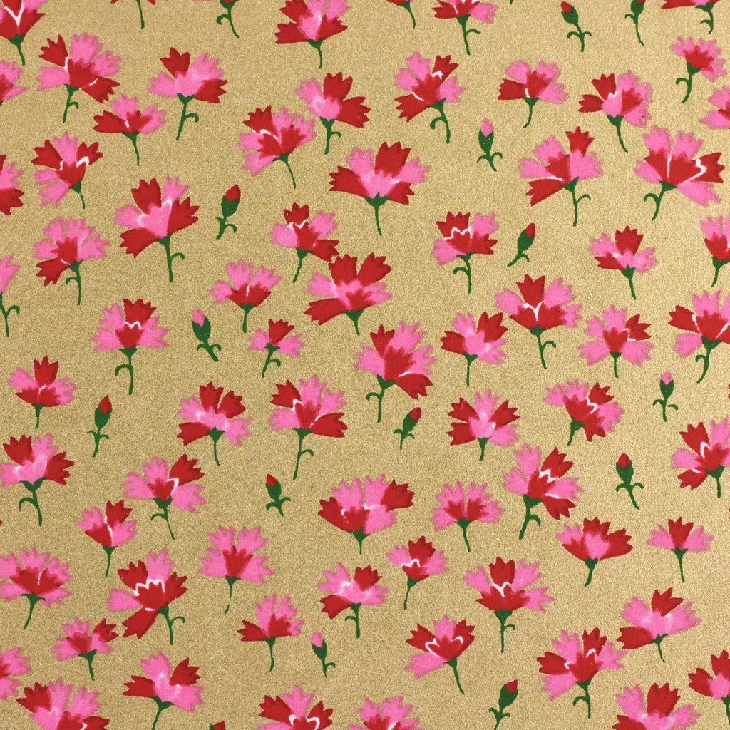 Japanese Chiyogami Paper Carnation Gold 1011c