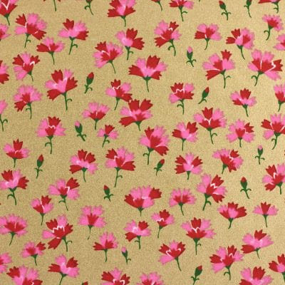 Japanese Chiyogami Paper Carnation Gold 1011c