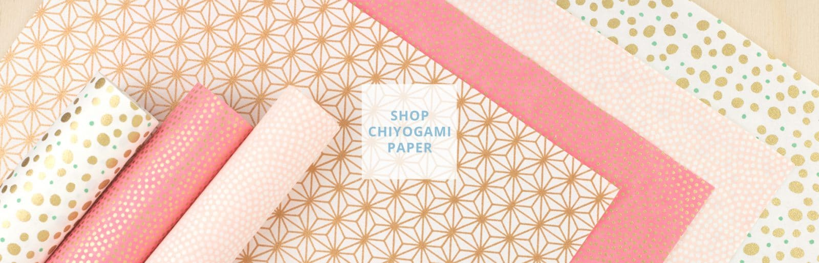 Japanese Chiyogami paper in pink peach colours