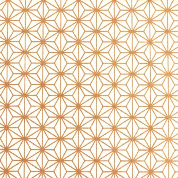 Japanese Chiyogami paper 1018c in rose gold geometrics