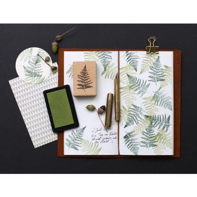 Fern Leaf Rubber Stamp