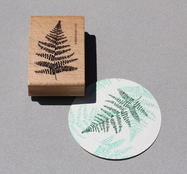 Fern Leaf Rubber Stamp