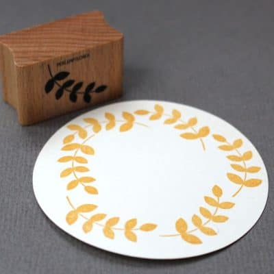 Leaf Motif Rubber Stamp