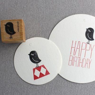 Little birdie stamp