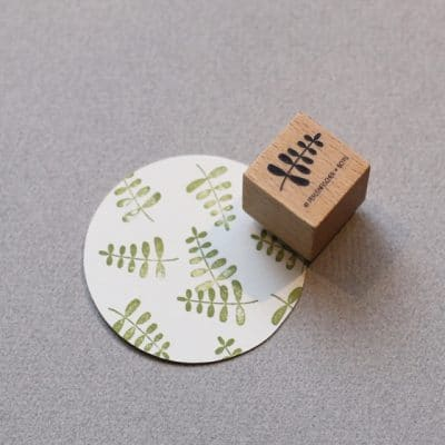 little plant stem rubber stamp