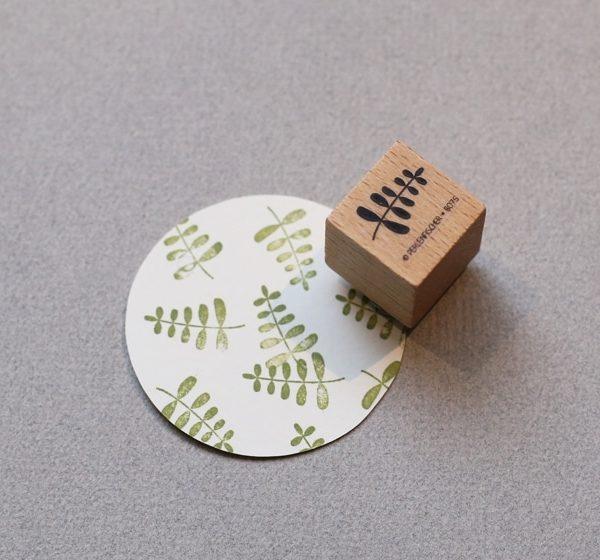 little plant stem rubber stamp