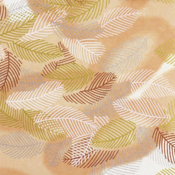 Japanese Chiyogami Paper Metallic Leaves 719c
