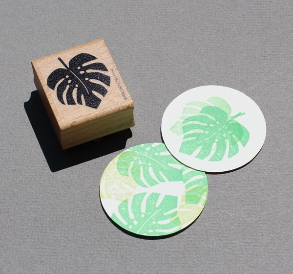 Monstera Leaf Rubber Stamp