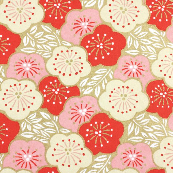 Japanese Chiyogami Paper Strawberry Lilypad 1014c