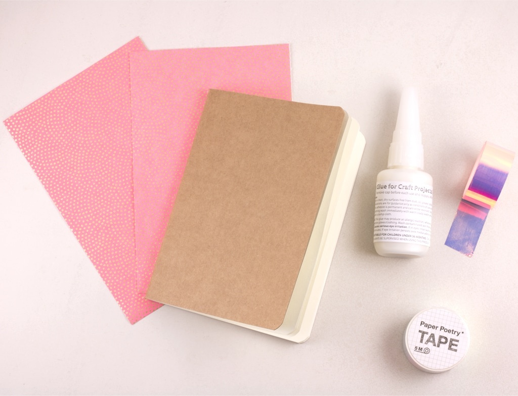 How to make a Chiyogami Paper covered notebook and bookbinding
