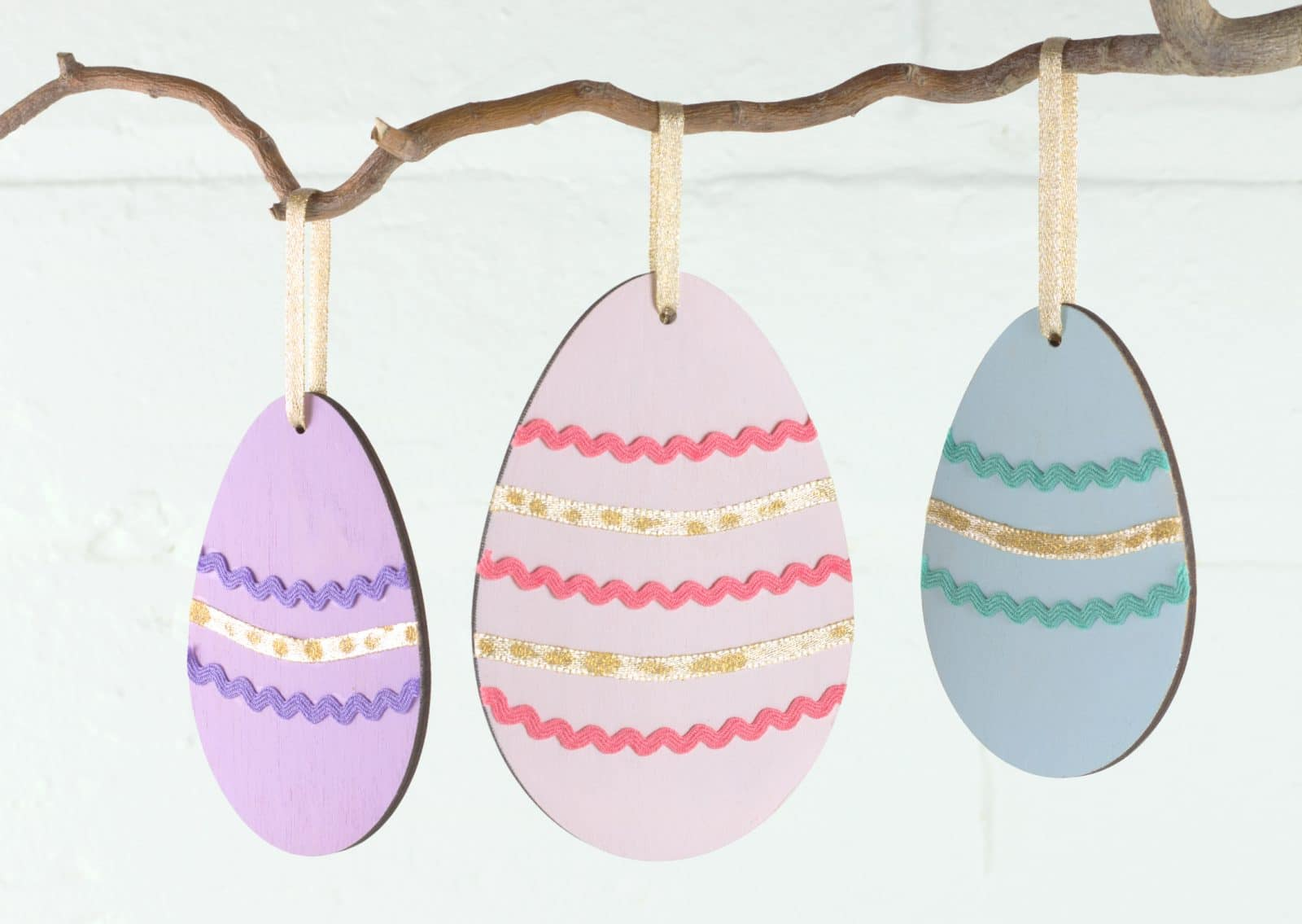 Wooden Easter Egg Craft Blank Shapes