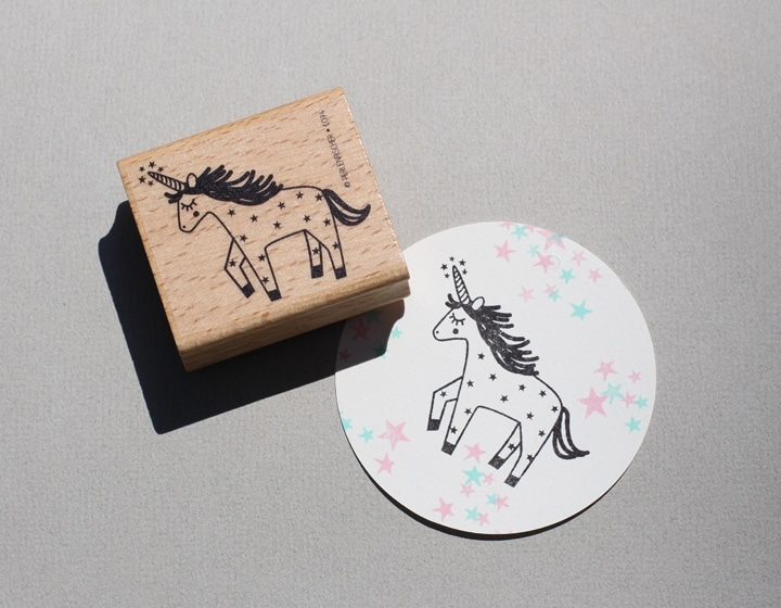 Unicorn Rubber Stamp By Perlenfischer Artcuts