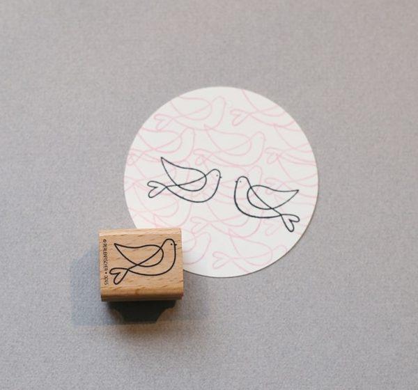 lovebird rubber stamp