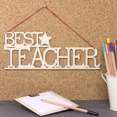 best teacher sign