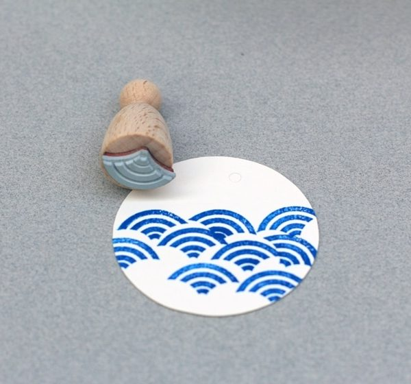 wave rubber stamp