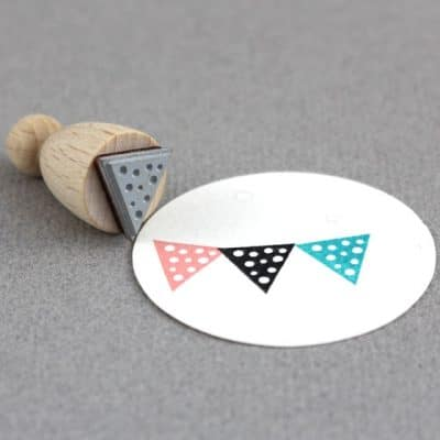 dotty flag rubber stamp