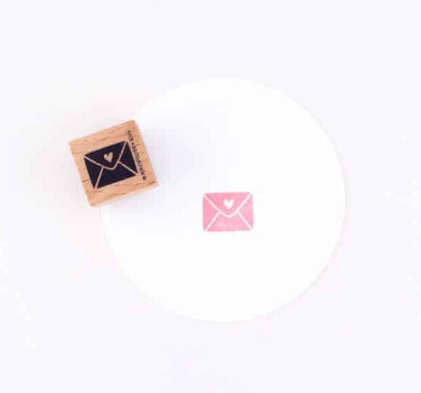 love letter rubber stamp