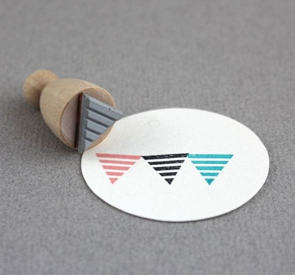 stripe flag rubber stamp