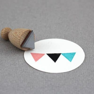triangle flag rubber stamp