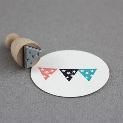 star flag rubber stamp