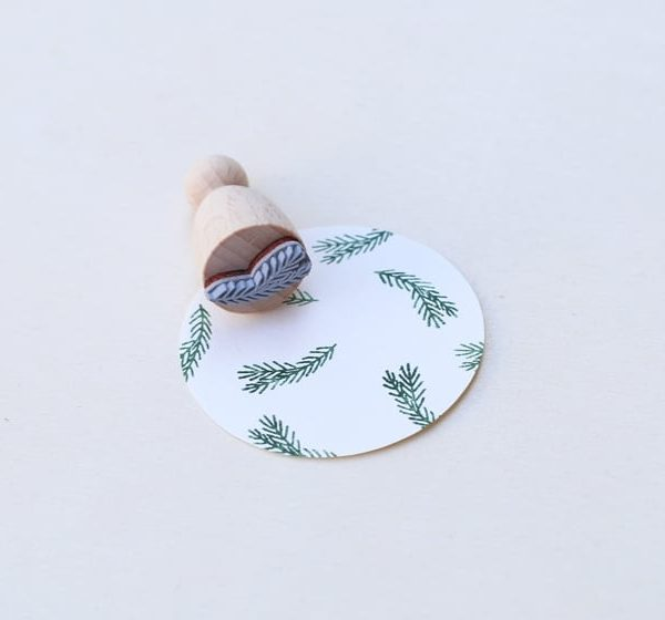fir sprig stamp