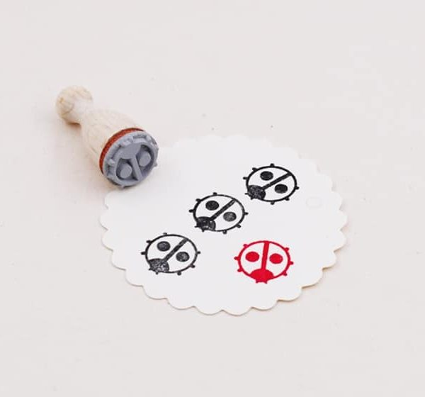 ladybird rubber stamp