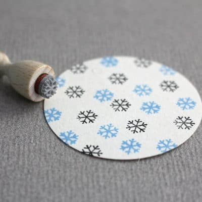 ice crystal rubber stamp
