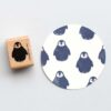 Penguin Rubber Stamp by Perlenfischer
