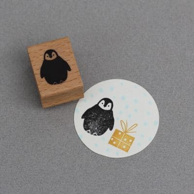penguin rubber stamp