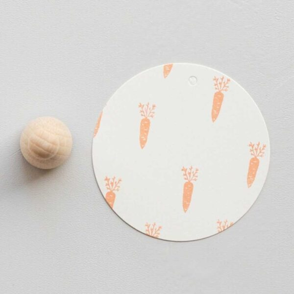 Carrot Mini Rubber Stamp