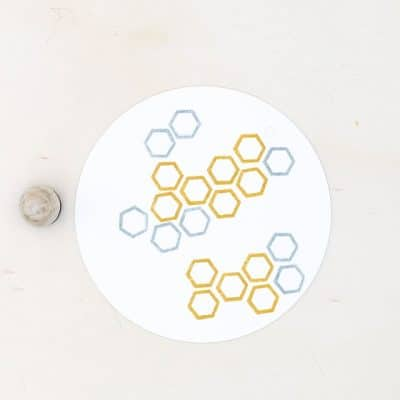 hexagon rubber stamp