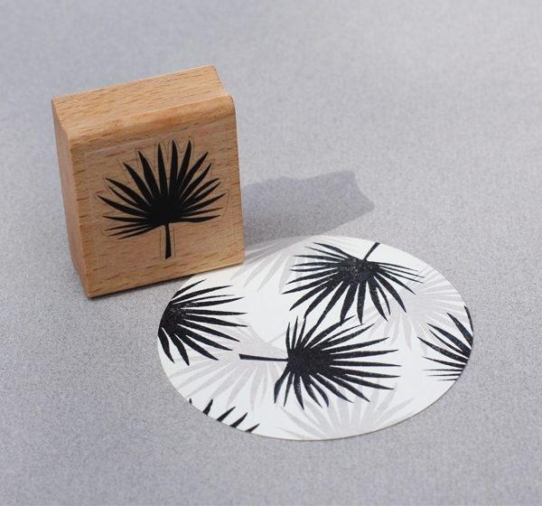 palm leaf rubber stamp