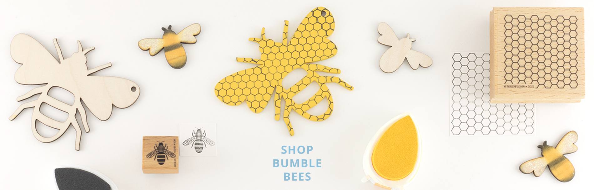 Artcuts Wooden Bee Craft Shapes and Stamps