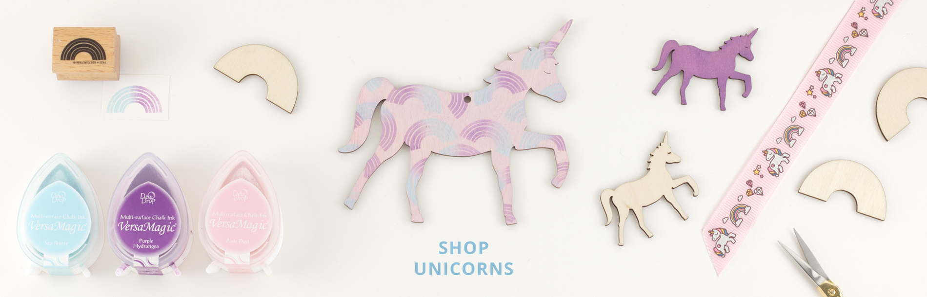 Artcuts Wooden Unicorn Craft Shapes