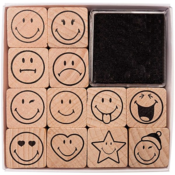 smiley face stamp set