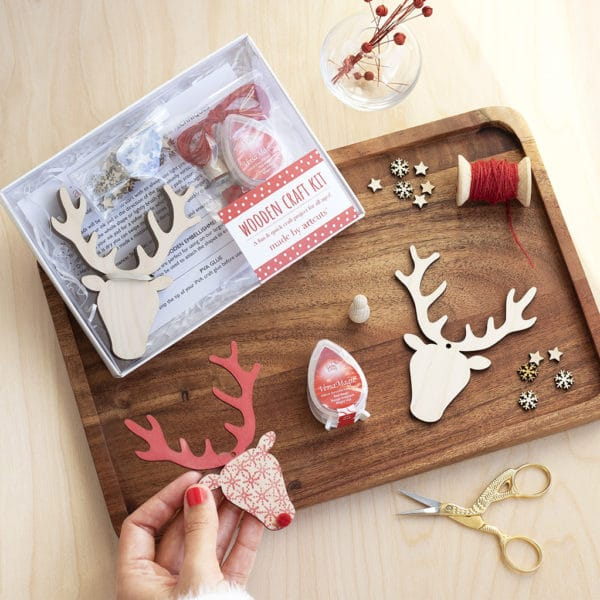 stag head wooden craft kit
