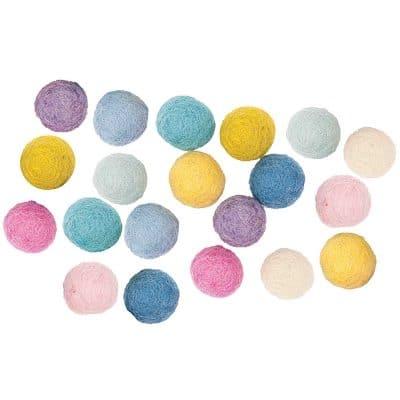 pastel felt pom poms