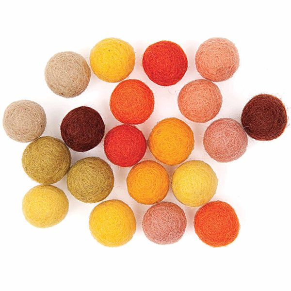 yellow felt pom poms