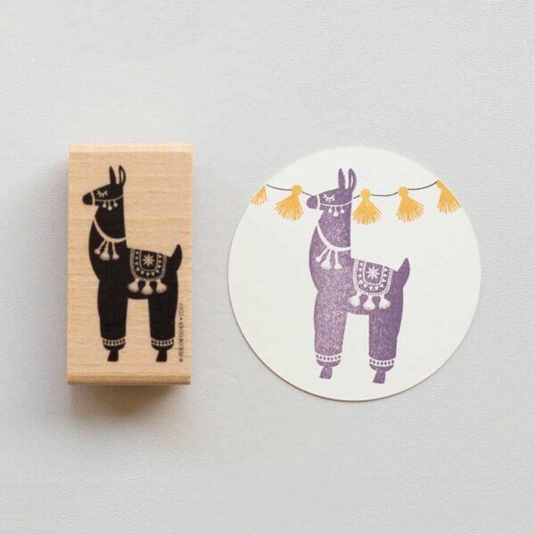 llama rubber stamp