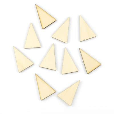 mini wooden triangles