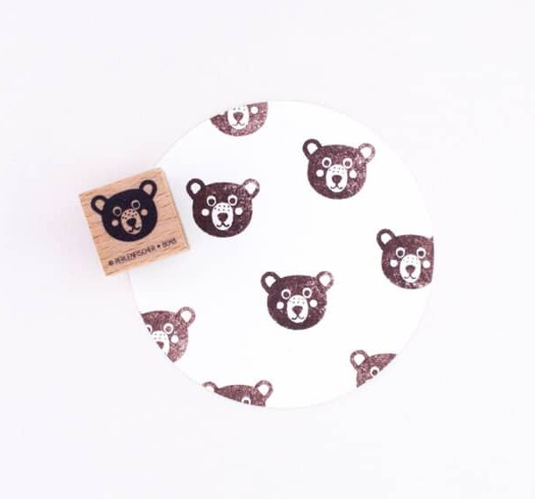 bear head rubber stamp