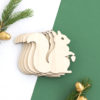 Wooden Squirrel Craft Shape