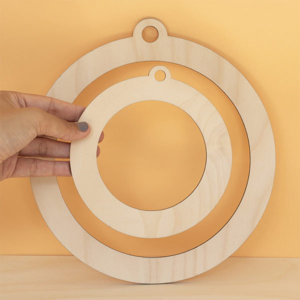 Wooden Circle Wreath