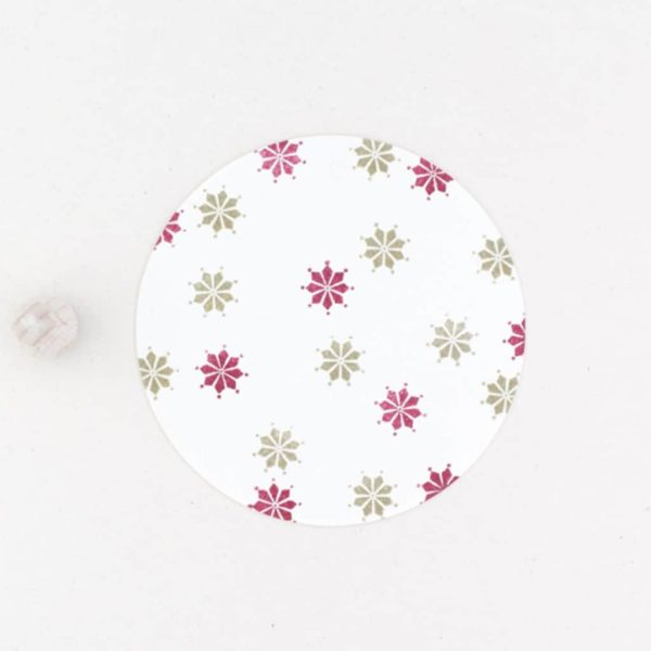 star motif rubber stamp