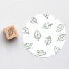Open leaf rubber stamp
