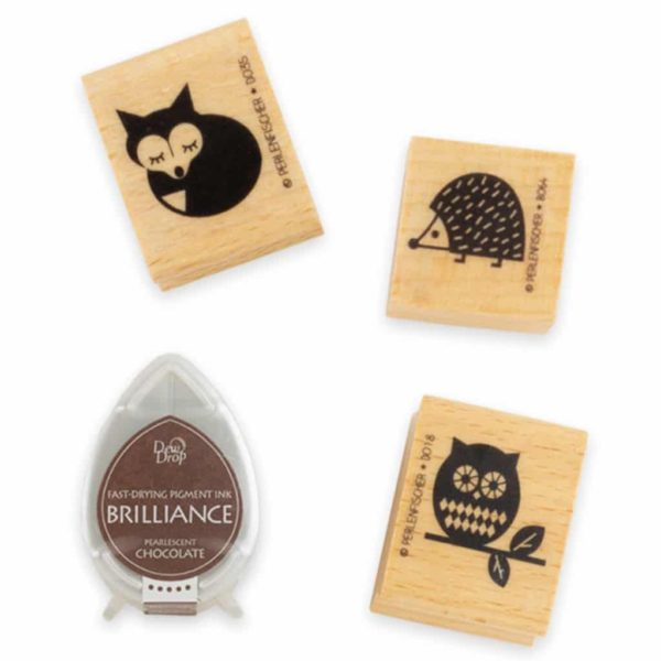 woodland ink & stamp set