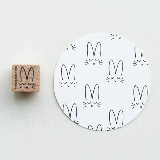 bunny motif rubber stamp