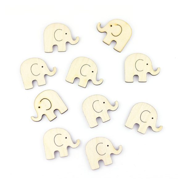 mini wooden elephants