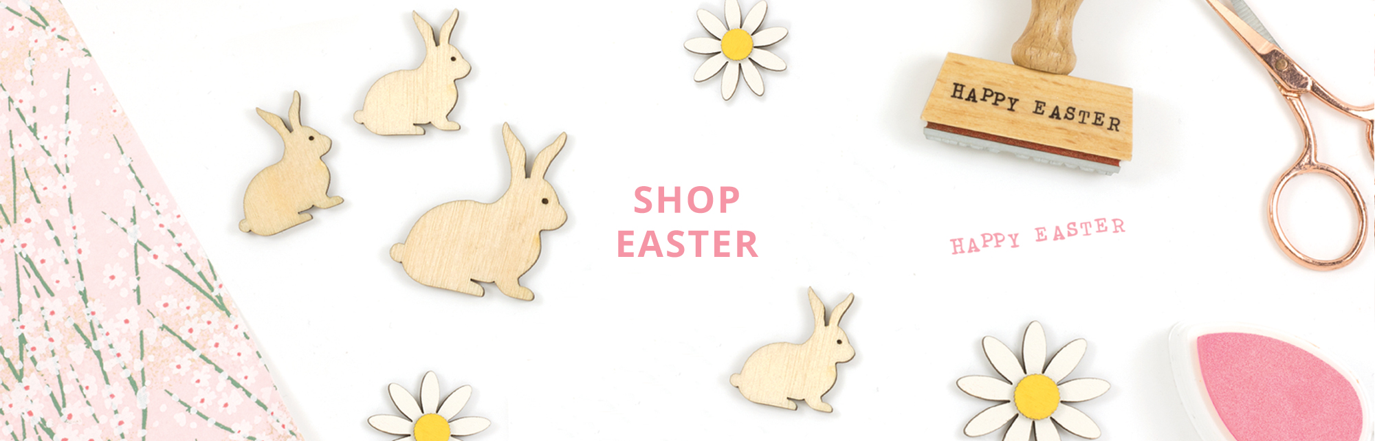 Wooden craft easter shapes artcuts